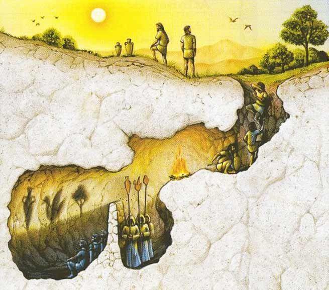 La caverne, sens signification - Illustration du mythe de la caverne de Platon