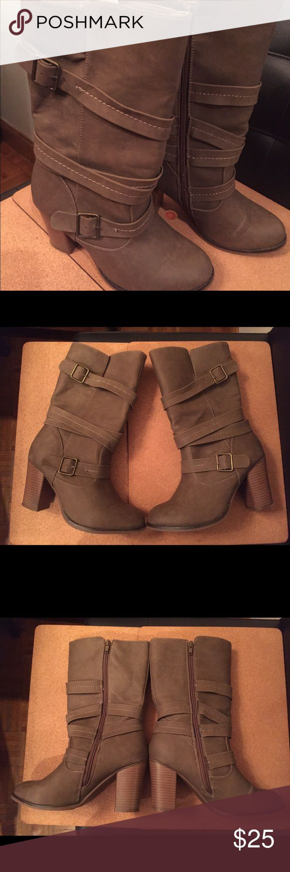 Woman's Beige Boots by Apt 9 Woman's Beige boots by Apt 9  Size 8 Apt. 9 Shoes Heeled Boots