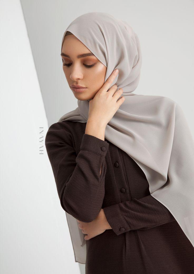 INAYAH - Dark Chocolate Textured Shirt Abaya
