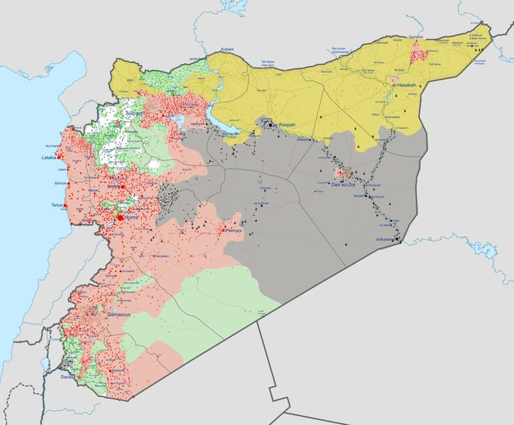 Syrian civil war as of June 1st 2017