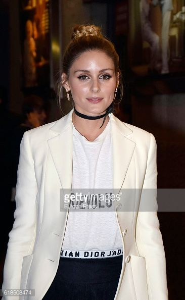 Olivia Palermo is seen arriving at ELLE 30th anniversay party at the Circulo de Bellas Artes on October 26 2016 in Madrid Spain