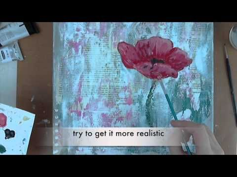 technique: use petroleum jelly as a resist!!  Artist Gang Tuesday... - simply me