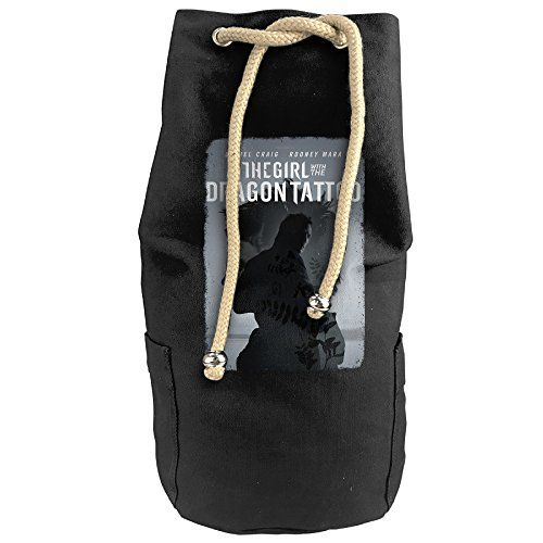 Cool The Girl With The Dragon Tattoo Poster Drawstrings Gym Backpack Bag