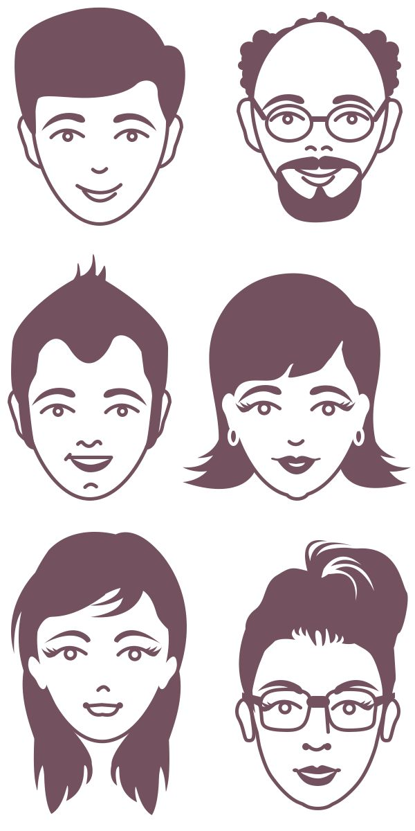 avatar-faces-vector