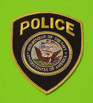 Department Of The Navy  ( Eagle Right )  Police Dept. Patch  Free Shipping!!!