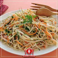 Salada de Linguini com Kani-Kama e Palmito