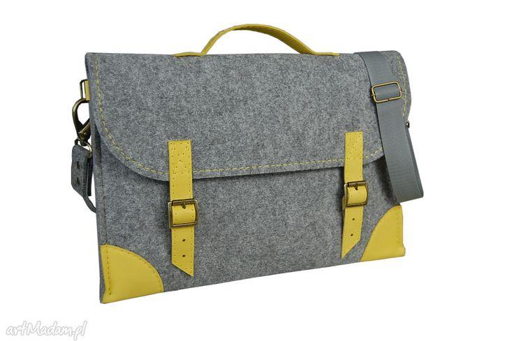 • ręcznie wykonane na laptopa, torebki - filcowa torba na