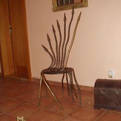 A wrought iron chair - 'Squid'