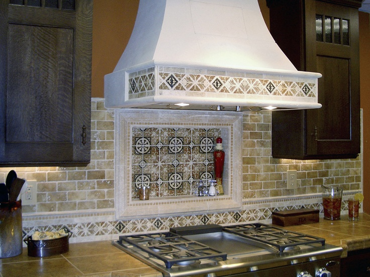 Kitchen:This Is A Models Of Backsplash For Example Your Kitchen At Home  Luxury Backplash Ceramic Chimney Gas Stove Wooden Cabinet Pepper Mill