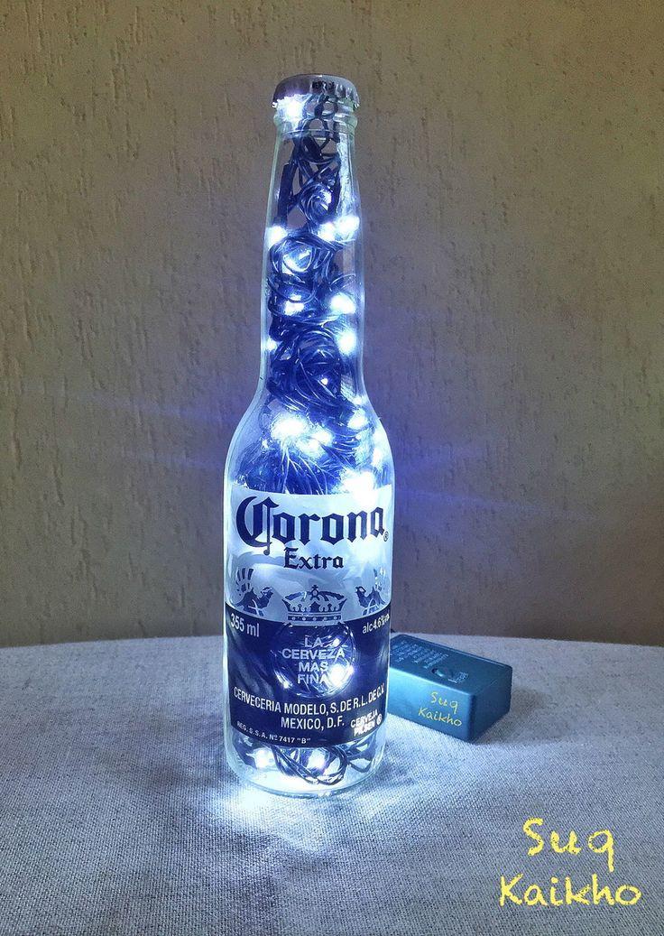 luminária garrafa luz LED