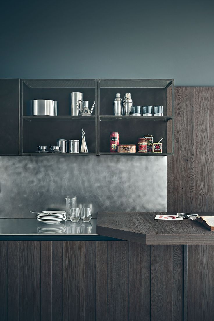Zampieri - #Fifty kitchen in ash grey sanded oak.