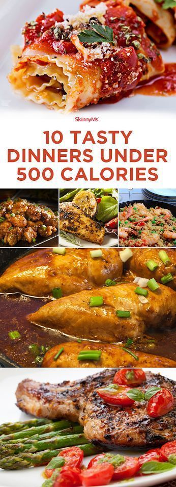 10 Tasty Dinners Under 500 Calories!