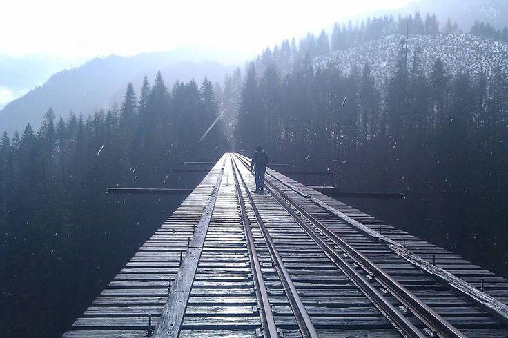 Bridge to the unknown.  this is Vance Creek Bridge near shelton wash