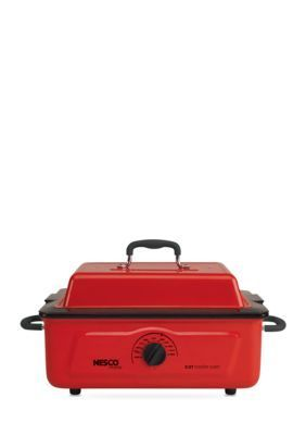Nesco  Porcelain Cookwell Red Roaster - Online Only