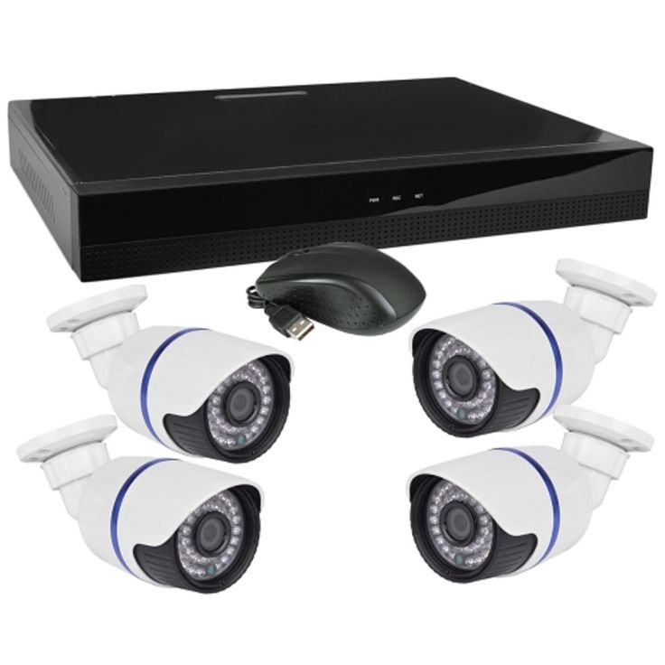 Jovision 4-Channel Network Video Recorder Kit w/4 IR 720p IP Cameras Remote Access USB & HDMI - Just Add Hard Drive