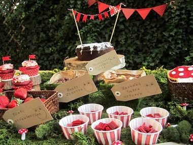 Woodland party for kids. Perhaps a few ideas here for M's requested January garden party?