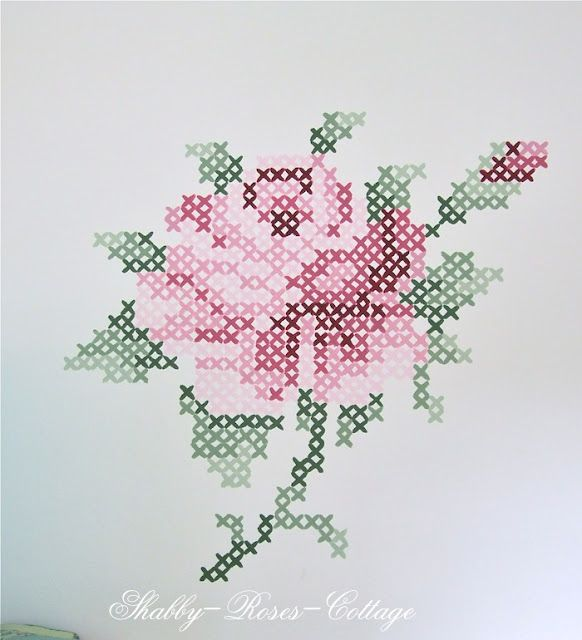 Shabby-Roses-Cottage: An other kind of cross stitch roses...