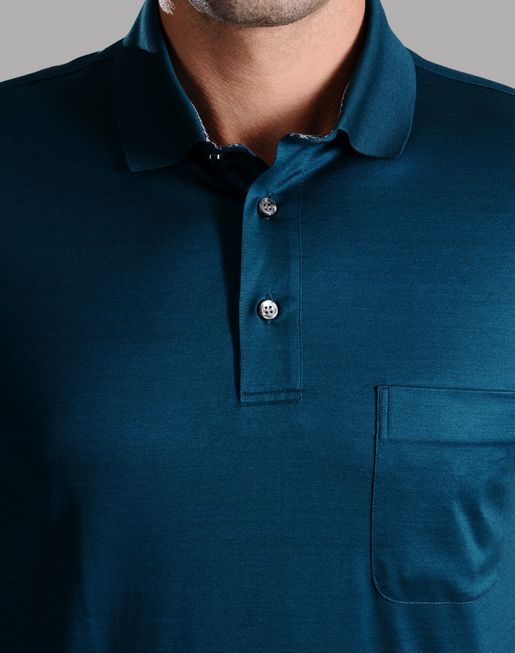 brioni.com | POLO SHIRT WITH CONTRASTING DETAILS | T-Shirts & Polos | Clothing