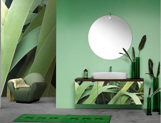 bathroom-in-green-and-turquoise зеленый.бирюзовый