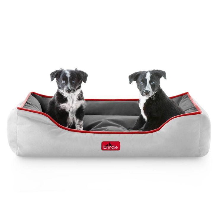 Brindle Waterproof Reversible Bolster Dog Bed