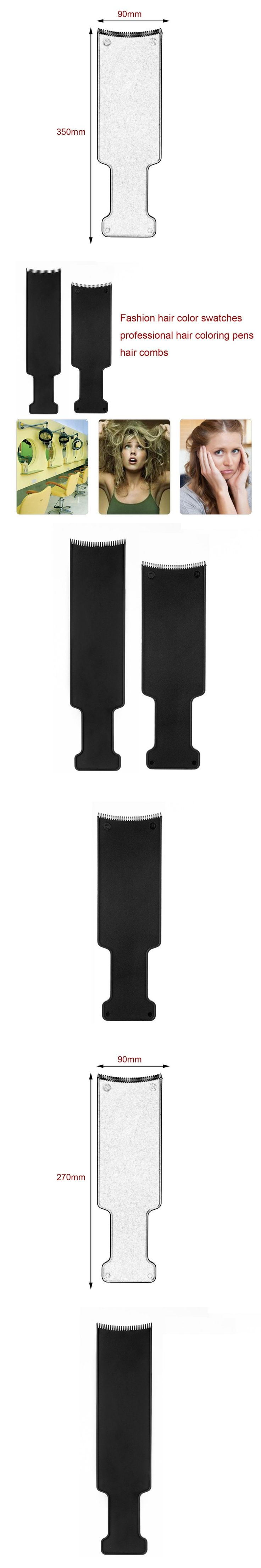 1 pcs rofessional Comb Hairdressing Pick Color Board Hair Dye Color Brush Salon Streaked Plate Tools Hairdressing Comb Hair Care