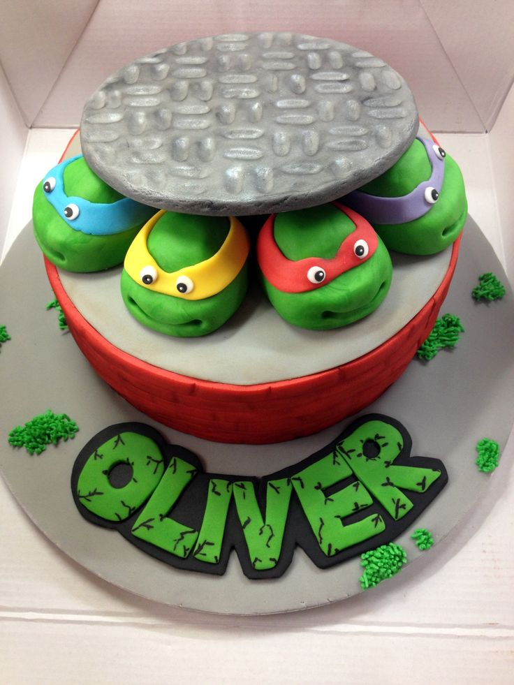 ... Ninja Turtle Cake Topper on Pinterest  Turtle Cakes, Turtle Birthday