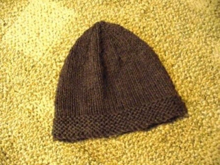 Knitting Hat Patterns For Men : Free knitting pattern for men s wool hat