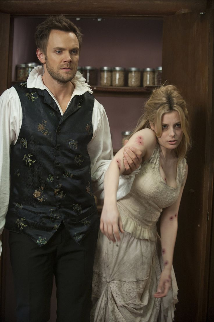 Joel McHale as Jeff & Gillian Jacobs as Britta. Community