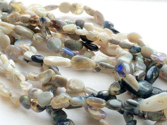 Tiffany Opal Nugget Beads Rare Australian Opal by gemsforjewels