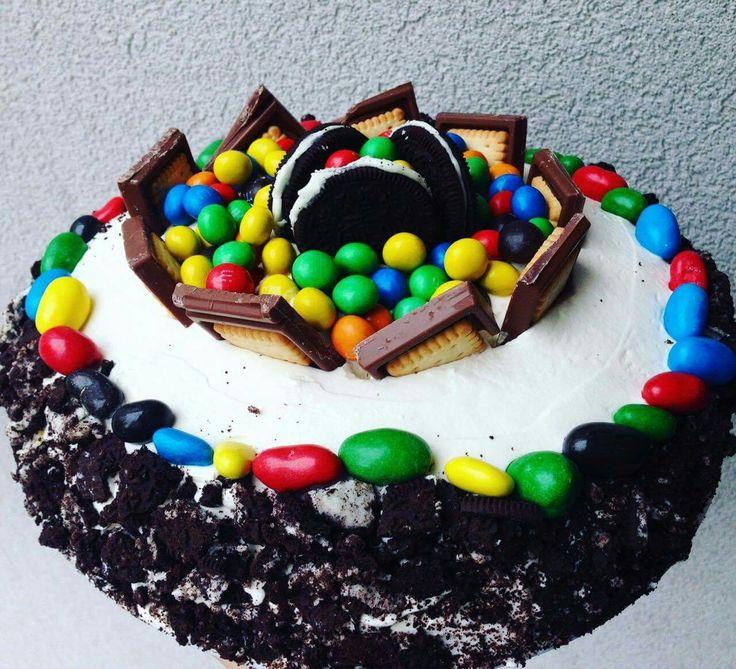 Birthday cake,M&M,Oreo,Milka