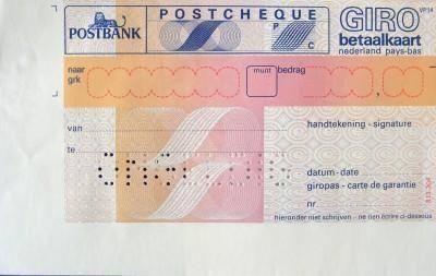 Rekeningen betalen met deze postcheques