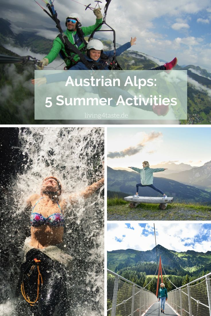 5 Reasons why it is also really nice to go to the Austrian Alps in Summer. There are so many Activties you can do! We were in Saalbach Hinterglemm. Sunsets, Paragliding, Horse Riding, Hiking, Canyoning ...