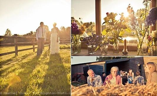sunset barn wedding, east sussex