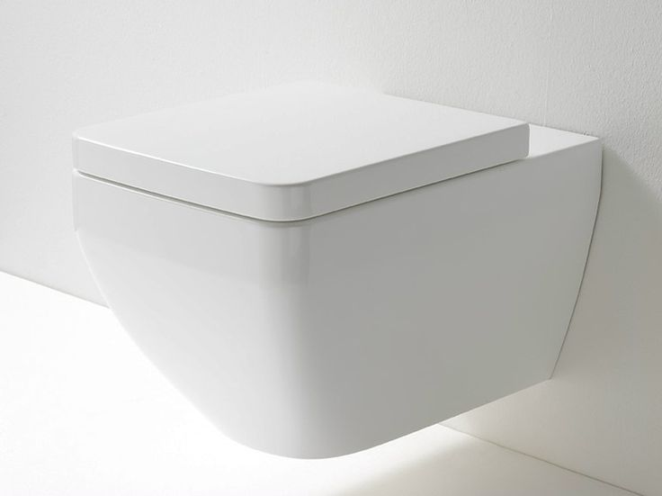 Wall-hung ceramic toilet MAYBE by Rexa Design