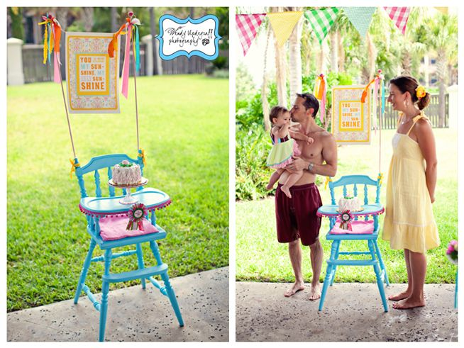 decorating Mason's highchair like this... but more boyish, of course