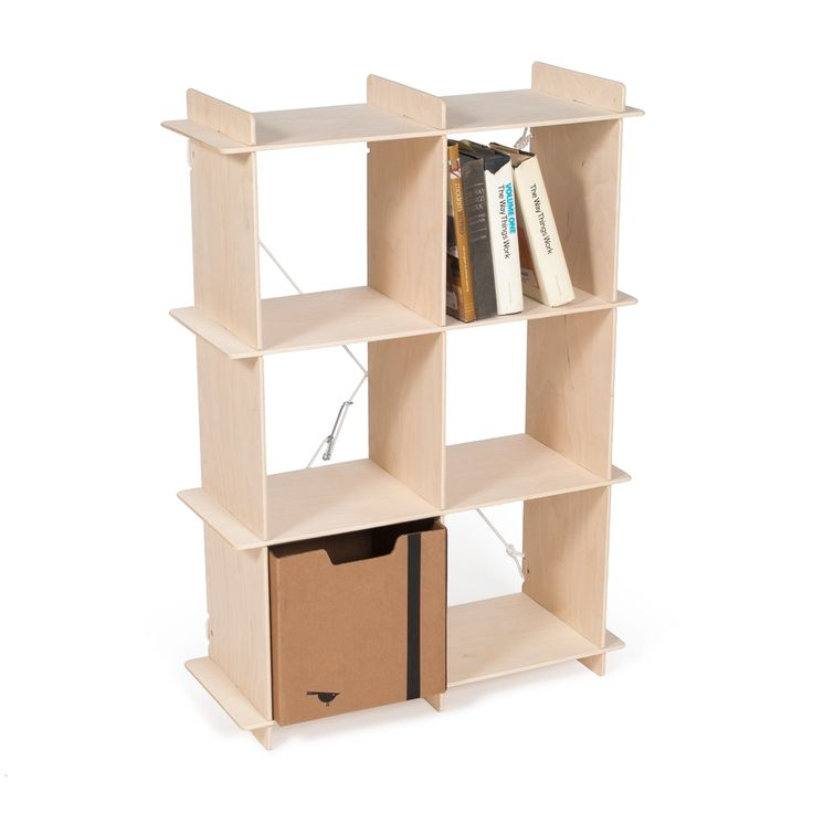 Just smaller than the other Sprout Cube Storage Bookcases, this cube storage is a great size to use next to the bed or in the corner. This sturdy cube bookcase is made from unfinished Baltic birch wood and can be easily painted or stained.