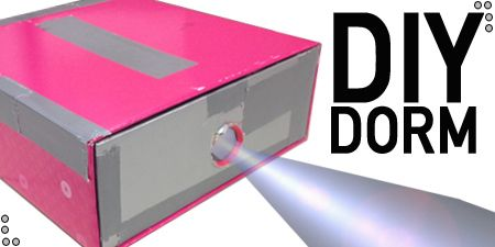 Make your own projector using a shoe box, duct tape, magnifying glass, and your smart phone!