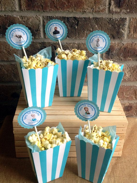 personalized popcorn boxes birthday party movie treat