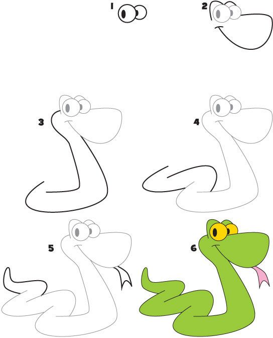 How to Draw a Snake: download this FREE pdf and teach your students/child how to draw a snake. www.kidscoop.com