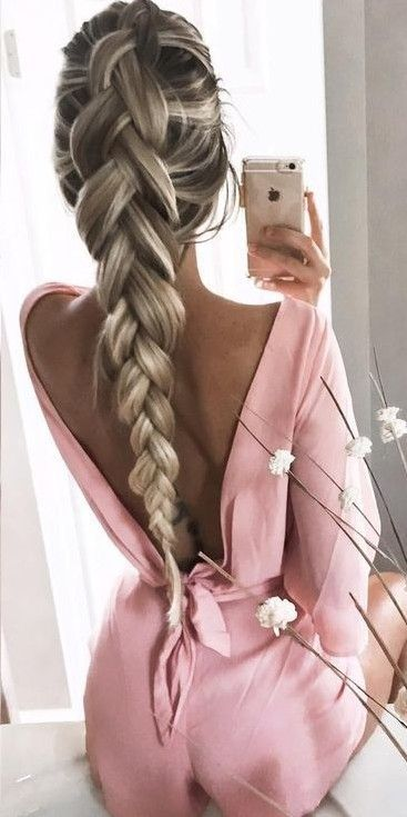 #summer #girly #outfitideas |  Pink Low Back Playsuit