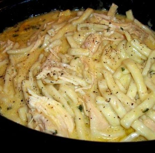 Comforting Chicken & Noodles Crock Pot!!