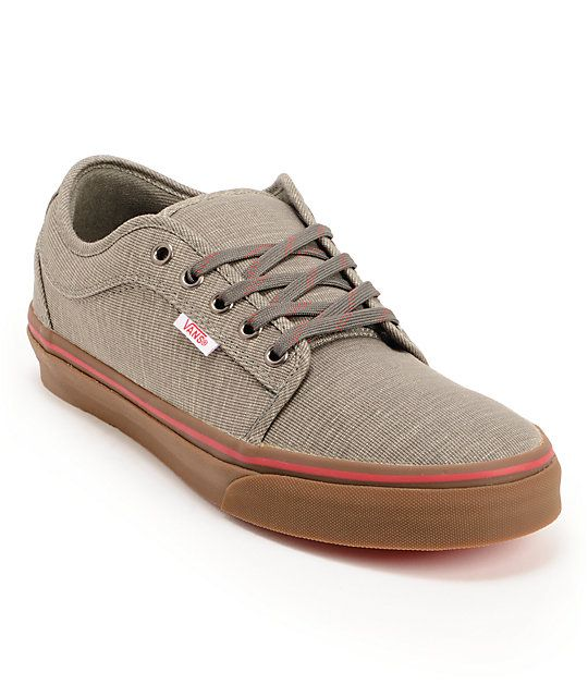 The Vans Chukka Low skate shoes in the Grey Linen