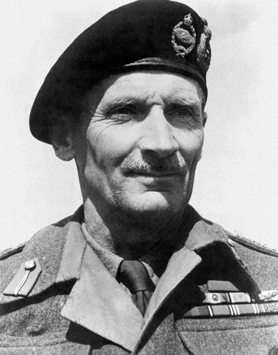 "Field Marshal Bernard Montgomery (17 November 1887 – 24 March 1976), nicknamed ""Monty"" and the ""Spartan General"", was a British Army officer. He saw action in the First World War, where he was seriously wounded. During the Second World War he commanded the Eighth Army from August 1942 in the Western Desert until the final Allied victory in Tunisia. This command included the Battle of El Alamein, a turning point in the Western Desert Campaign. He subsequently commanded the Eighth Army in…"