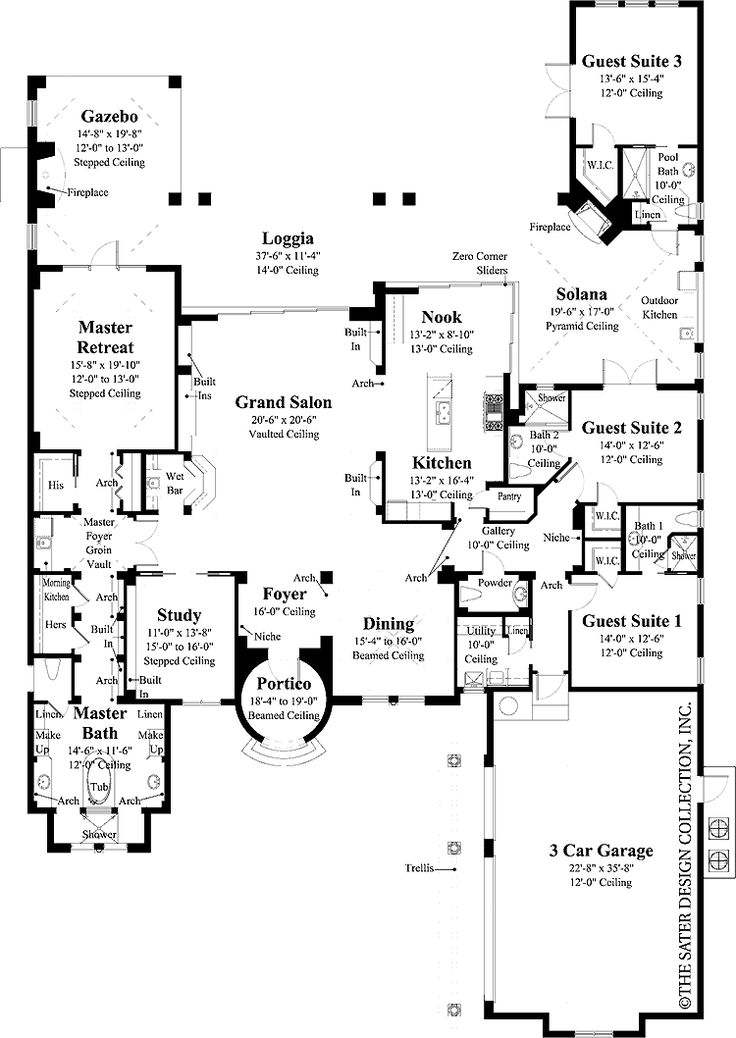 276 best Home - Houseplans images on Pinterest | Floor plans, House ...