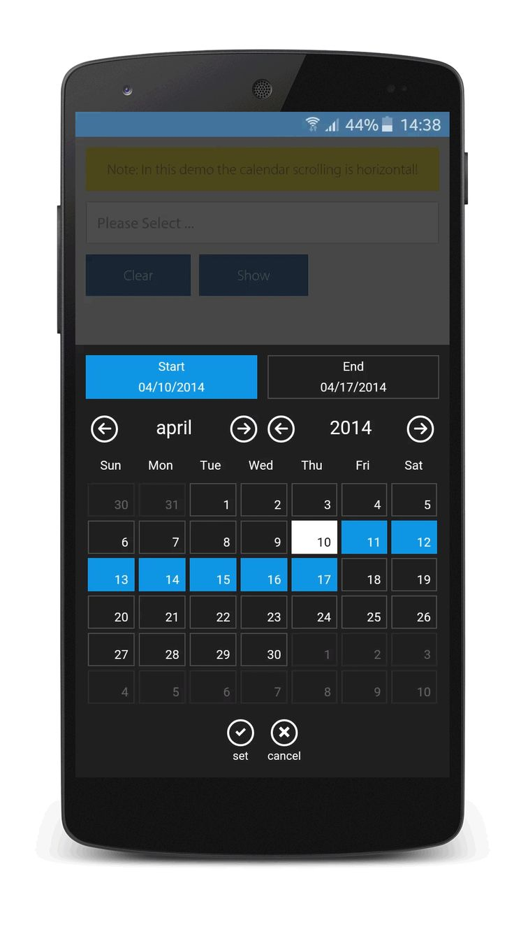 Date & Time Range Basic usage,Default values for Start and End, #Windows Phone, #UI/UX