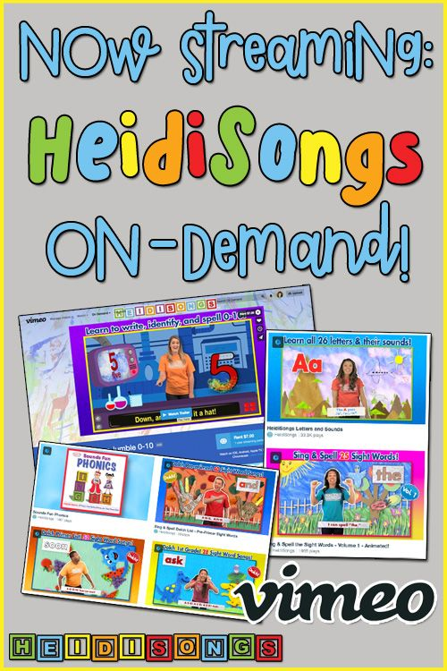 HeidiSongs is now streaming online! We've partnered with Vimeo to offer streaming, on-demand, online playlists of our DVDs! Here's the info & a FREE trial code!