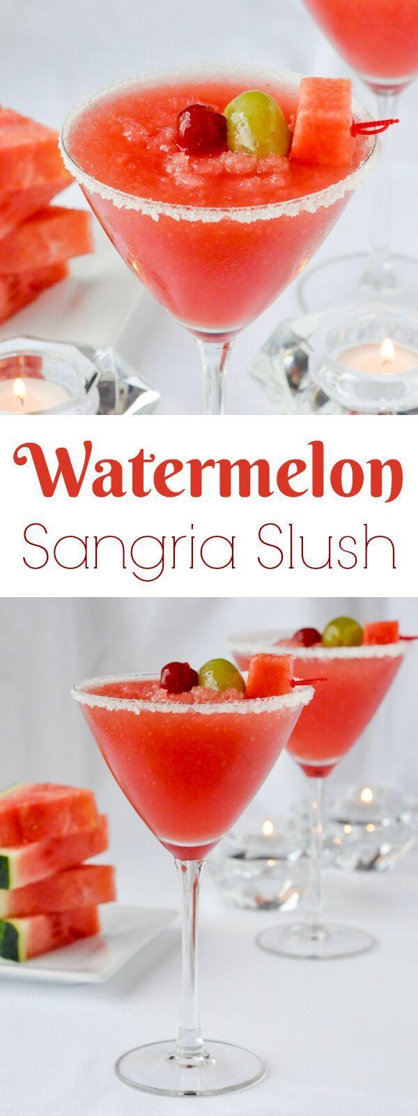 Watermelon Vodka Slush Recipe — Dishmaps