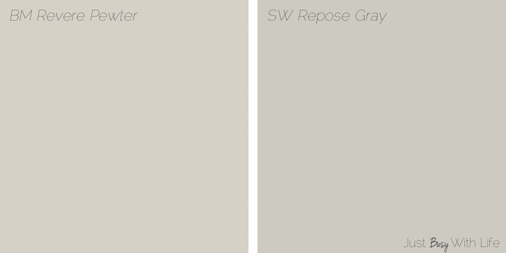 Revere Pewter vs Repose Gray | Just Busy With Life