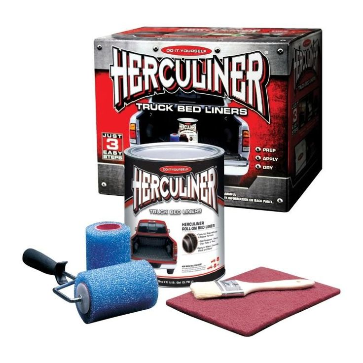 Herculiner hcl0b8 polyuerthane truck bed liner kit in 2020