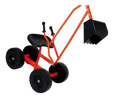 Childs Boys Metal Ride on Digger Crane with Wheels ...